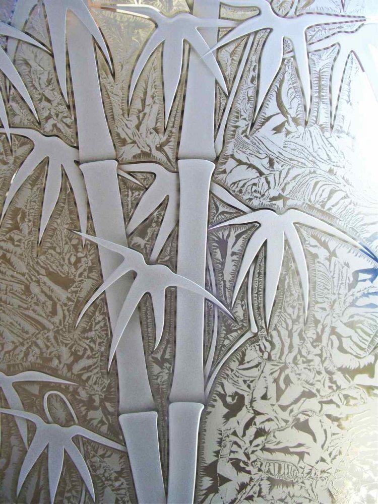 Bamboo 3d Gluechip Glass Door Inserts Sans Soucie