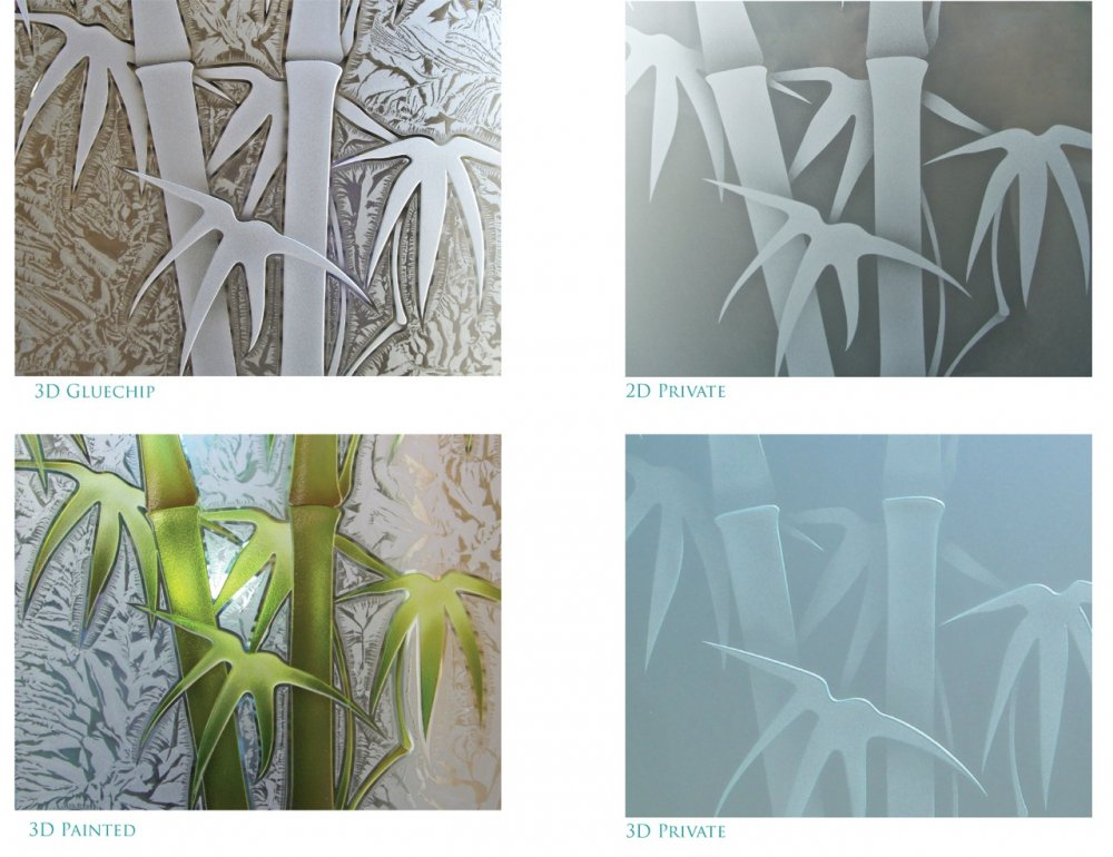 Bamboo Shoots Asian Decor Etched Glass By Sans Soucie