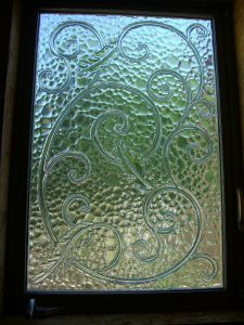 cast glass French design intricate swirls cast scrolls sans soucie