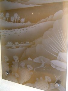 Sans Soucie Wall Art with Carved Glass Desert Decor