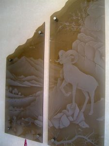 Wall Art with Glass Carving Western Style by Sans Soucie