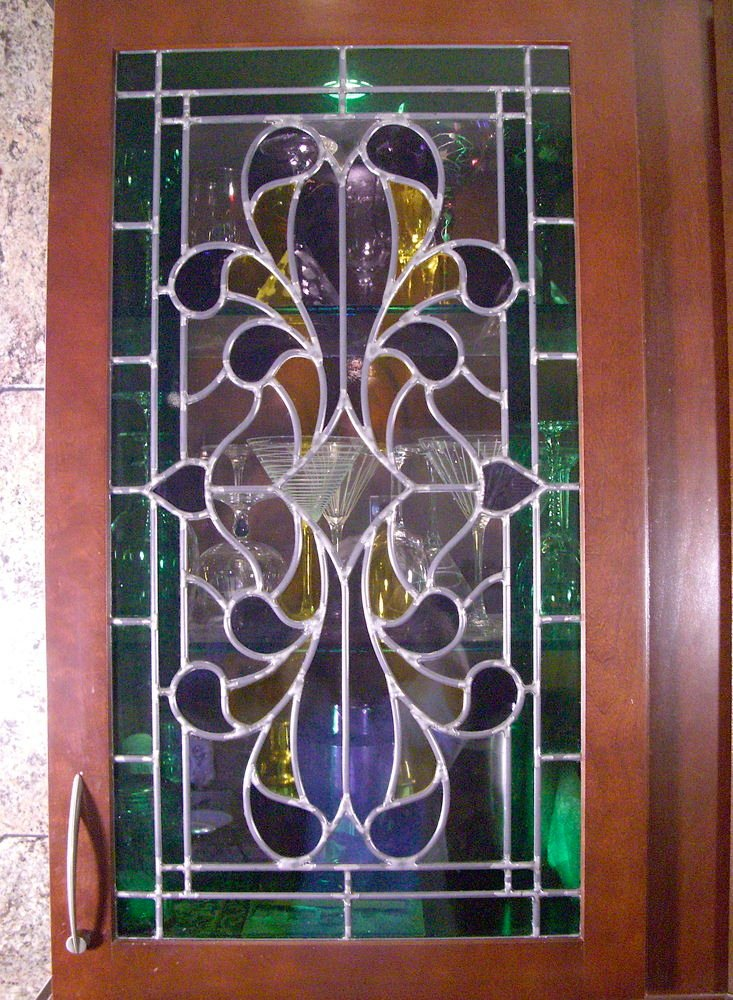 Cabinet Door Inserts Stained Glass Colorful by Sans Soucie