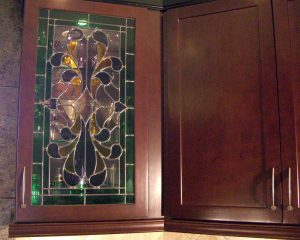 Sans Soucie Cabinet Door Inserts Colorful Stained Glass