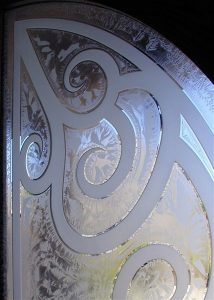 Front Door Inserts with Etched Carved and Gluechipped Glass Mediterranean by Sans Soucie