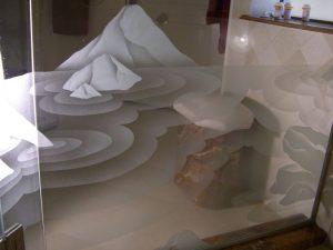 glass shower doors custom glass eclectic style desert wildlife ecstasy ll sans soucie