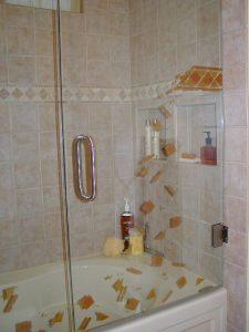 frameless glass shower doors custom glass modern decor crumbling band fallaway sans soucie