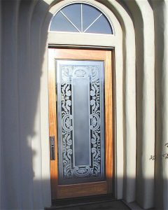 Sans Soucie Front Door Inserts with Etched and Carved Glass Traditional