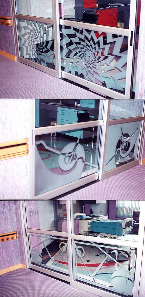 etched glass doors geometric patterns