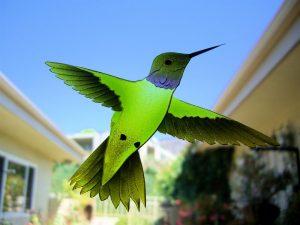 Door Inserts with Glass Etching Wildlife Hummingbird Lovers Sans Soucie