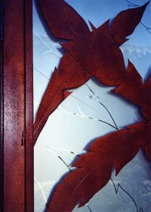 Sans Soucie Entry Gate Inserts with Carved and Etched Glass