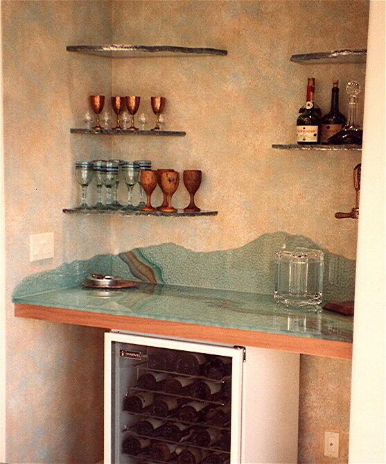 Sans Soucie Art Glass Custom Glass Bar Top Amp Shelves L