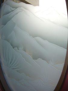 custom glass rustic style outdoors hills desert mountain views sans soucie