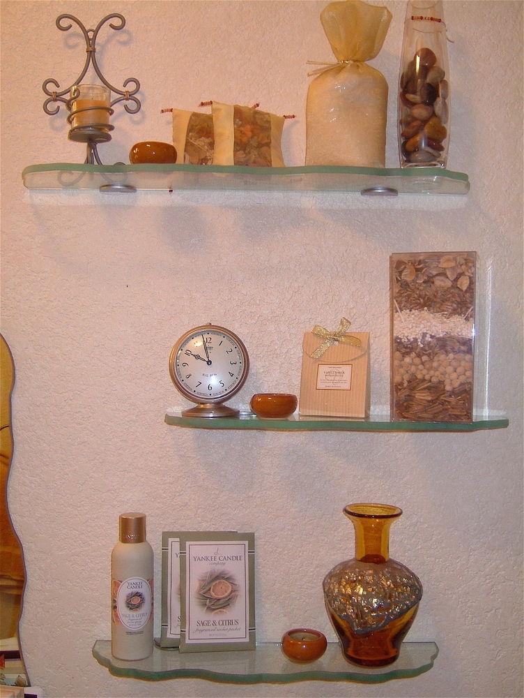 Glass Shelves Chiseled Edges