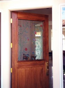 Sans Soucie Door Glass Inserts Etched Carved and Painted spring
