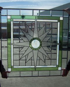glass window stained glass art deco design bright stars starburst sans soucie
