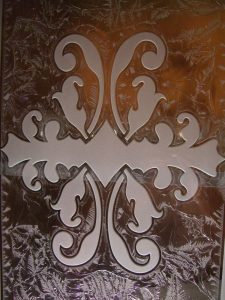 Victorian Cabinet Door Inserts with Frosted Glass by Sans Soucie