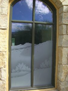 glass window frosted glass rustic style outdoors hills desert views in the reserve sans soucie