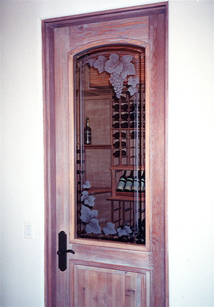 Wine Rooms Door Frosted Glass By Sans Soucie Art Glass Studios