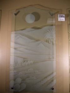 Sans Soucie Glass Wall Art Etched Glass Carved