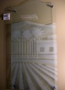 Sans Soucie Glass Wall Art Craved Etched Glass