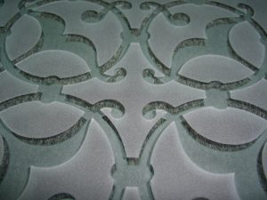 Door Insert Panels with Carved and Etched Glass by Sans Soucie