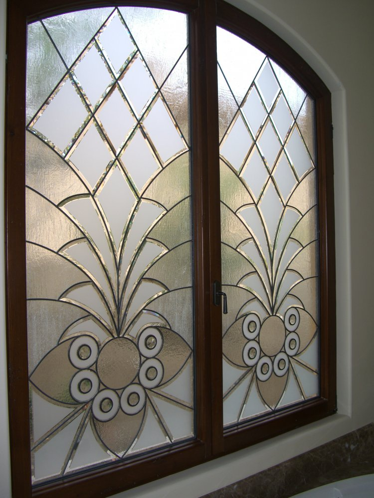 Sans Soucie Sandblast Etched Glass Sample Stained Glass Glass Window Etched  Glass Moroccan Design Ornate Intricate Arabesque Bevels Ll Sans Soucie ...