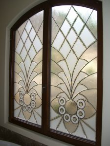 glass window sandblasted glass moroccan design linear patterns arabesque bevels ll sans soucie