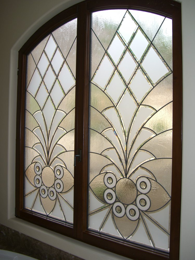Arabesque bevels ii glass window stained glass moroccan for Window design glass