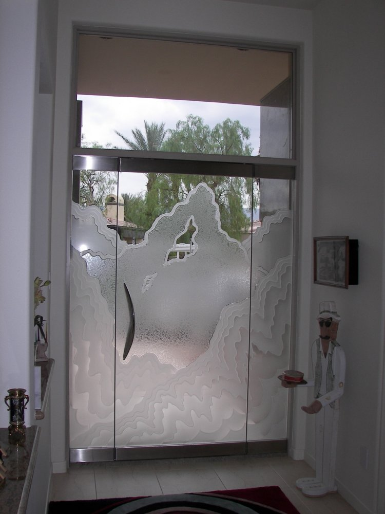 Rugged Frameless Glass Doors L Sans Soucie