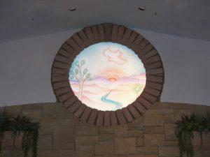 glass window painted glass western decor sunrise trees joshua springs sans soucie