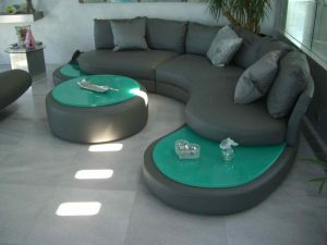 Sans Soucie Coffee Tables with Back Painted Glass