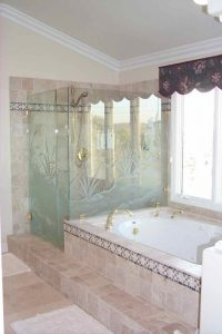 glass shower dreams custom glass rustic decor creek bed flowing stream sans soucie