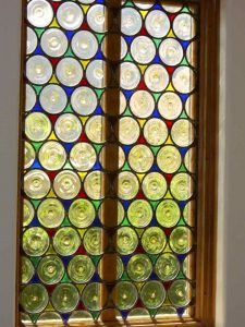 glass window stained glass modern decor circular shapes rondels sans soucie