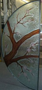Glass Door Inserts Etched Painted Carved and GlueChipped Glass by Sans Soucie