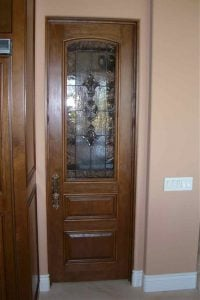 Sans Soucie Pantry Door Inserts with Stained Beveled Glass