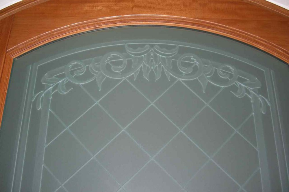 Entry Door Glass L Etching L Decorative Carved Glass L