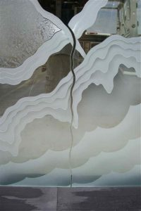 sandblasted glass rustic style rolling hills rugged retreat ll sans soucie