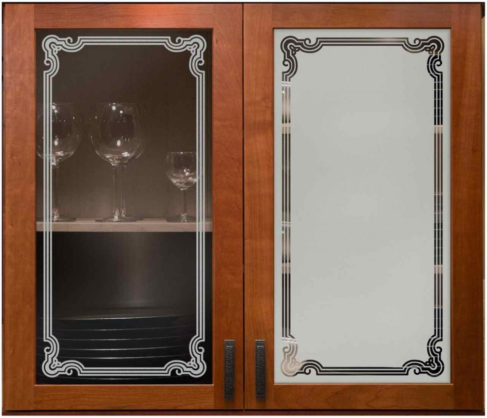 Glass Designs For Kitchen Doors: Florence Border Cabinet Glass