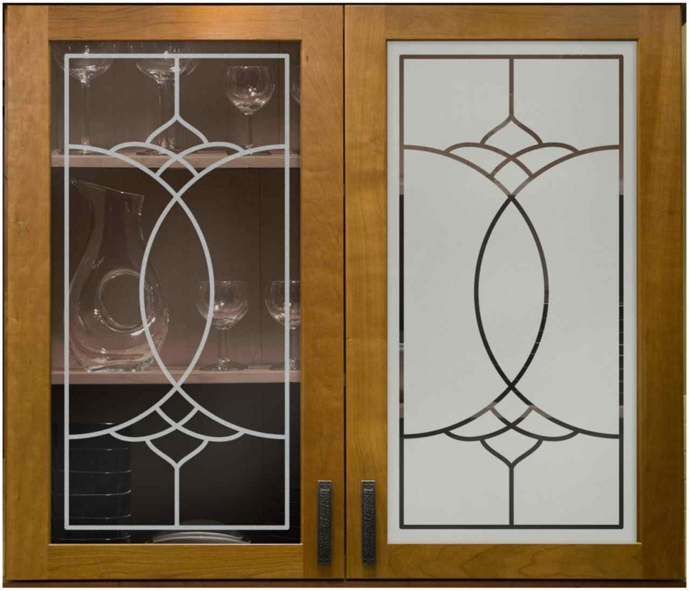 Dover faux leaded cabinet glass sans soucie art glass for Kitchen door with window