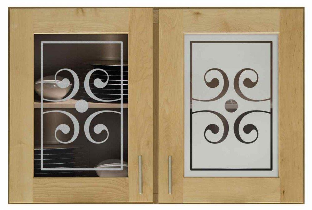 Scrolls Classic 228 Cabinet Glass Sans Soucie Art Glass