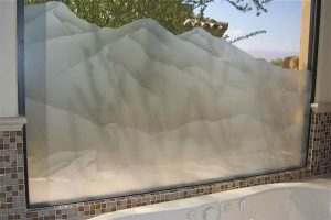 frosted glass western decor hills desert mountain surroundings sans soucie