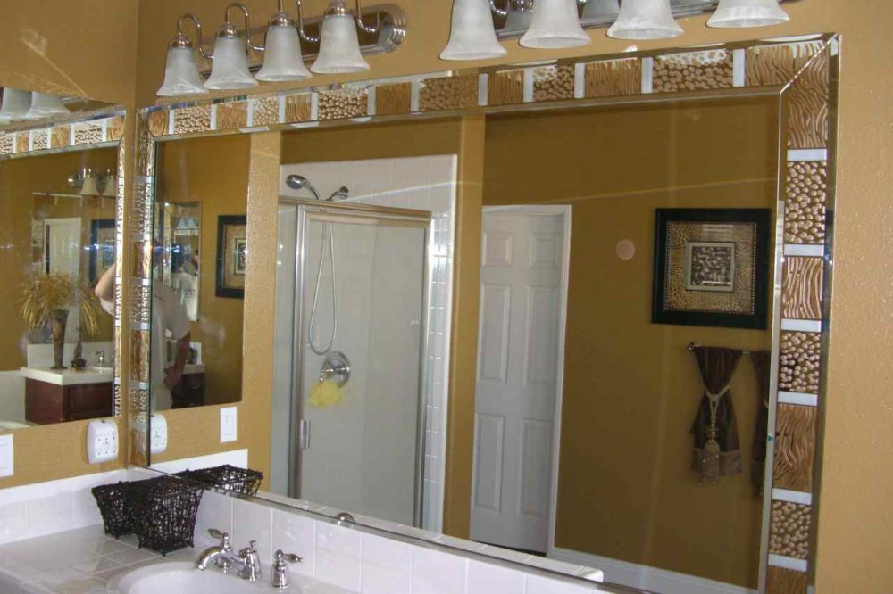 Lovely ... Sans Soucie Custom Mirrors Carved And Painted Animal Print Border ...