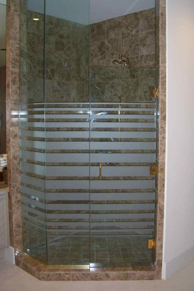 Decorative Floral Glass Shower Door Glass Shower Doors Frosted Glass Modern Decor Geometric Patterns
