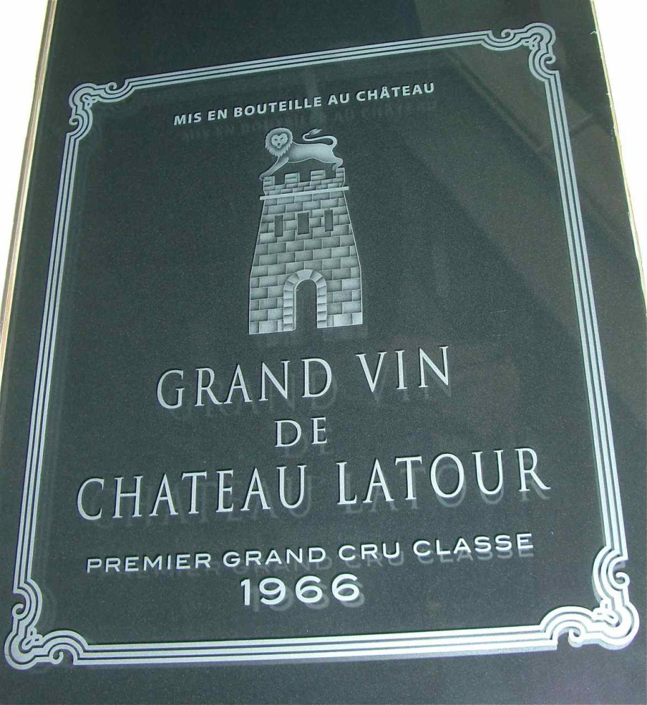 etched glass wine room door brand label