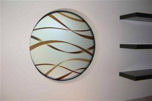 glass window glass etching modern decor circular patterns flowing ribbons sans soucie