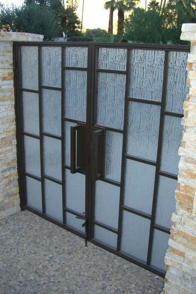Front Gate with Euro Rain Frosted Glass by Sans Soucie