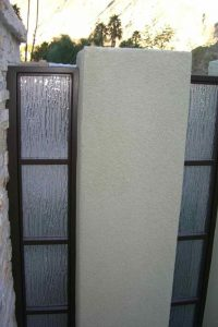 Sans Soucie Front Gate with Euro Rain Frosted Glass