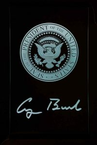 Sans Soucie Etched Glass Signs U.S. Presidential Seal