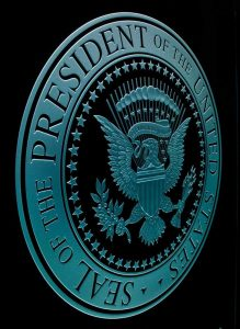 Sans Soucie Signs U.S. Presidential Seal Etched Glass