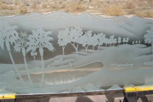 Pony Walls with Craving Desert palm trees by Sans Soucie
